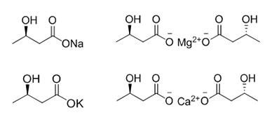 D-3-羟基丁酸钠、钙、镁、钾